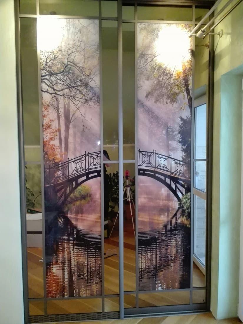дверь в гардеробную с фотопечатью брату свадьбу любимой