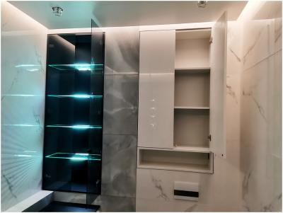 Шкаф в нишу в ванной комнате т.904522